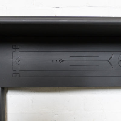 Antique Early Edwardian Slate Fireplace Chimneypiece With Corbels