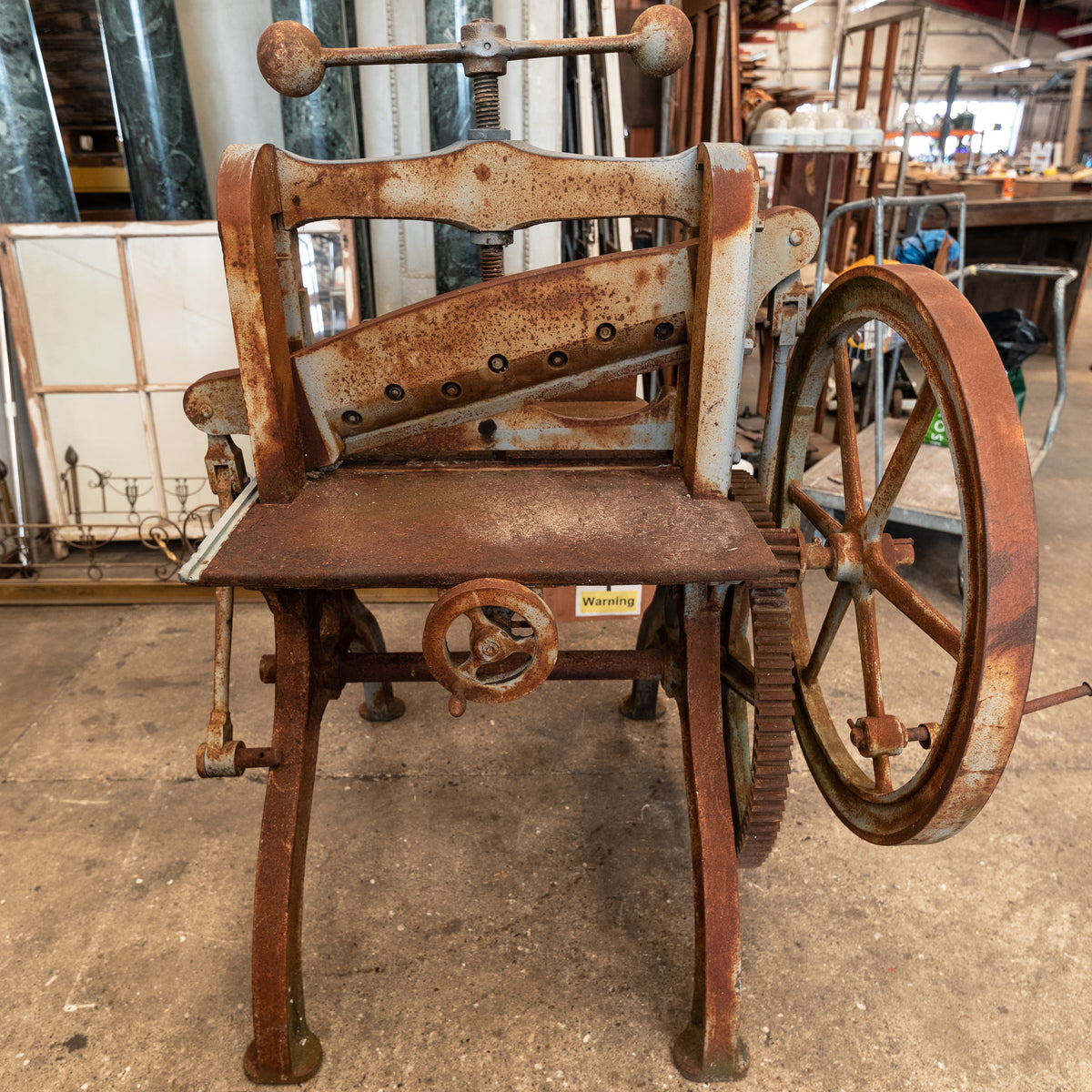 Antique Cast Iron Guillotine Paper Cutter By F.M McNeil & Co | The Architectural Forum