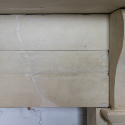 Antique Late Georgian, Early Victorian Bath Stone Chimneypiece