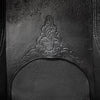 Antique Victorian Cast Iron Fireplace Arched Horseshoe Insert - architectural-forum