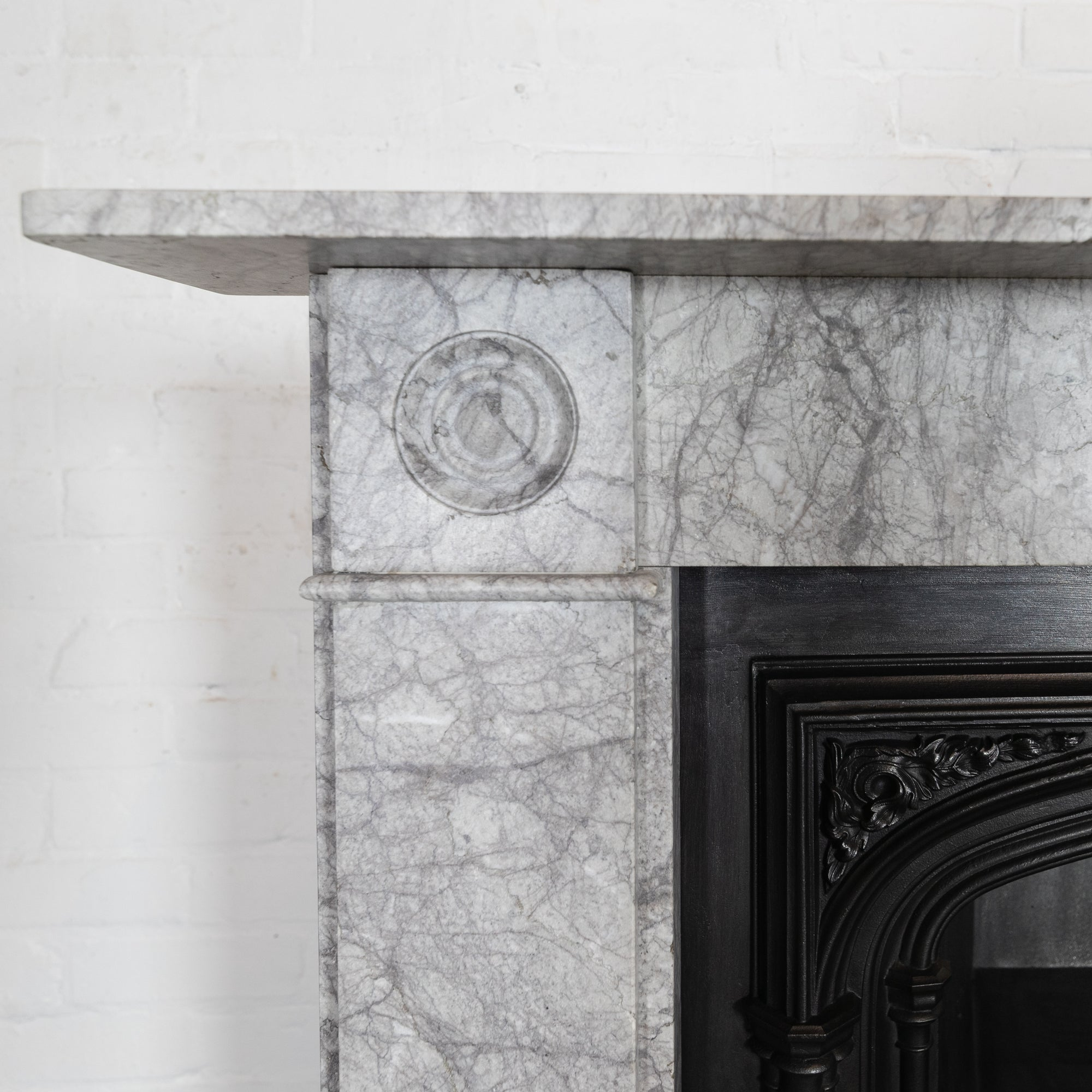 Georgian Style Bullseye Marble Fireplace Surround | The Architectural Forum