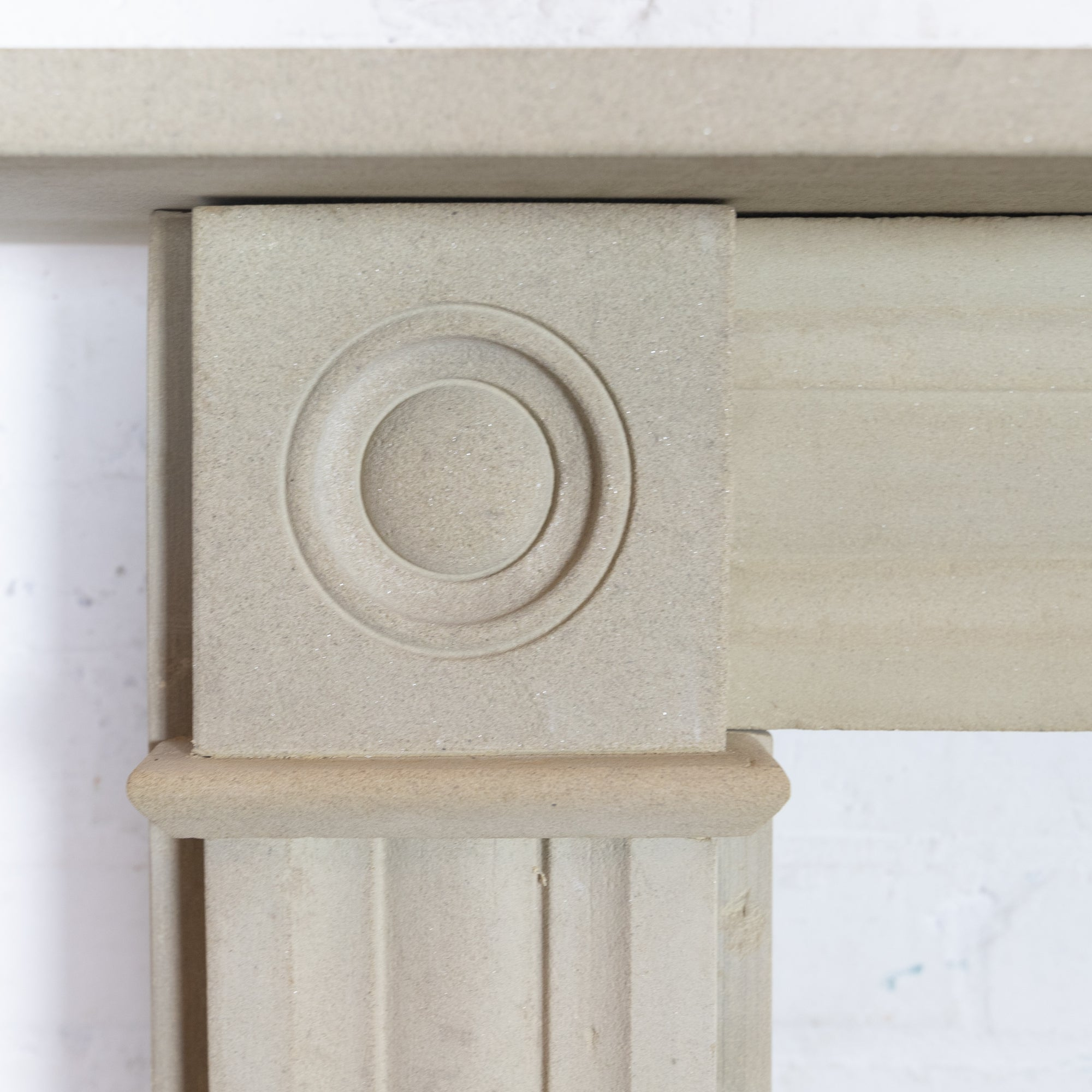 Antique Georgian Sandstone Bullseye Fireplace Surround | The Architectural Forum