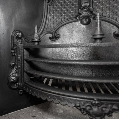 Antique Victorian Cast Iron Fireplace Insert - The Architectural Forum