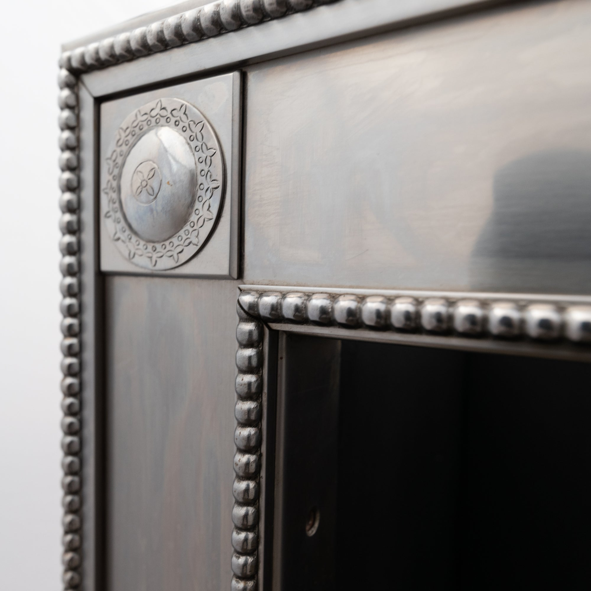 Reclaimed Georgian Style Polished Steel Register Grate in the Manner of Robert Adam | The Architectural Forum