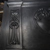 Antique Art Nouveau Cast Iron Combination Tiled Fireplace - architectural-forum