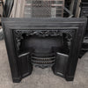 Antique Ornate Late Georgian Cast Iron Register Grate Insert - architectural-forum