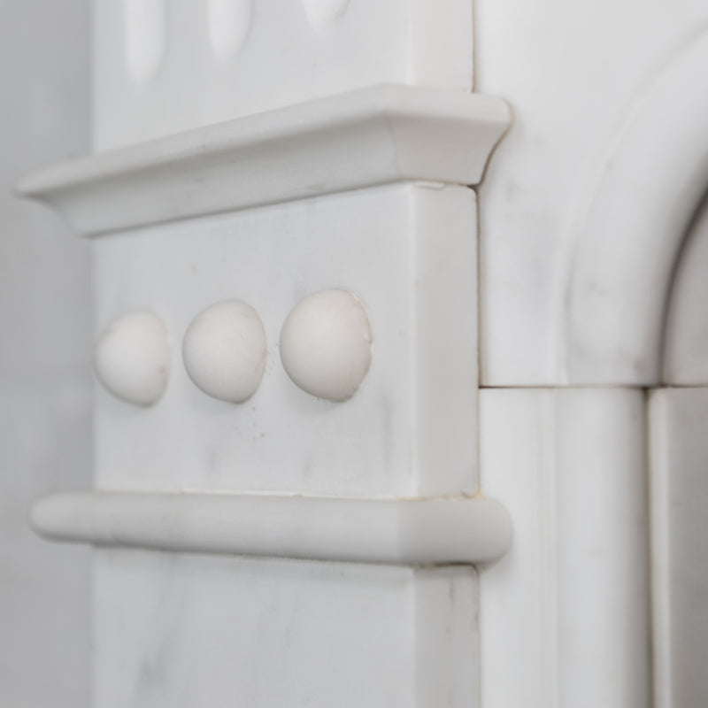 Original Edwardian Carrara Marble Fireplace Surround