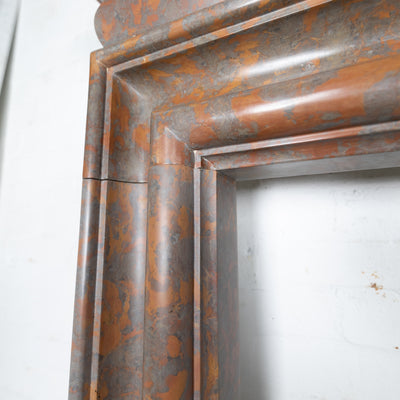 Reclaimed Bolection Chimneypiece in Red Marble
