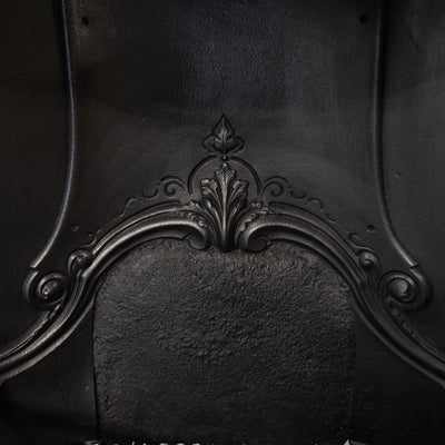 Antique Victorian Cast Iron Horseshoe Fireplace Insert - architectural-forum