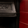 Antique Edwardian Cast Iron Combination Fireplace with Red Tiles - architectural-forum