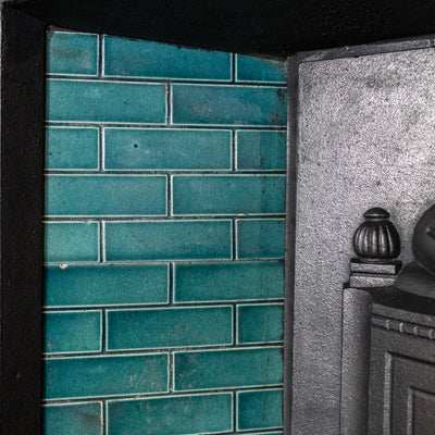 Antique Edwardian Tiled Combination Fireplace
