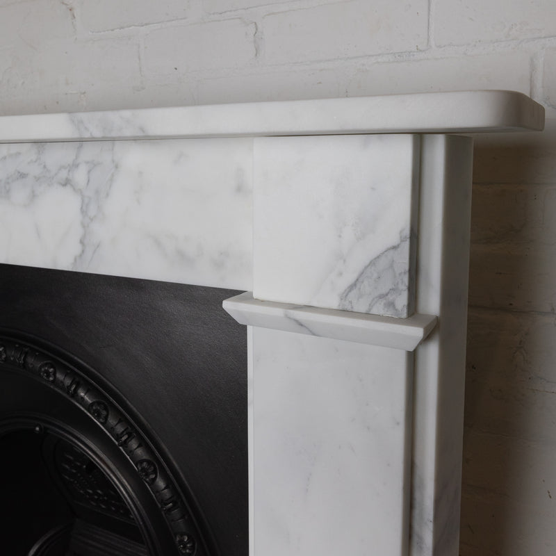 Victorian Style Arabesque Marble Fireplace Surround