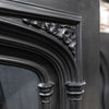Antique Victorian Gothic Revival Cast Iron Fireplace Insert - architectural-forum