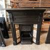 Antique Edwardian Cast Iron Tiled Combination Fireplace - architectural-forum
