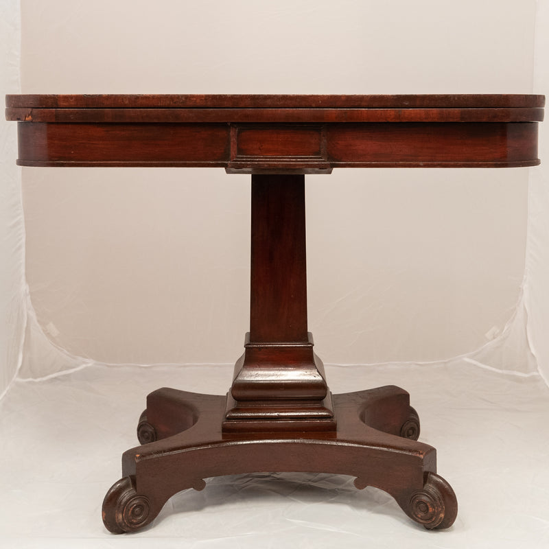 Antique William IV Mahogany Folding Card Table