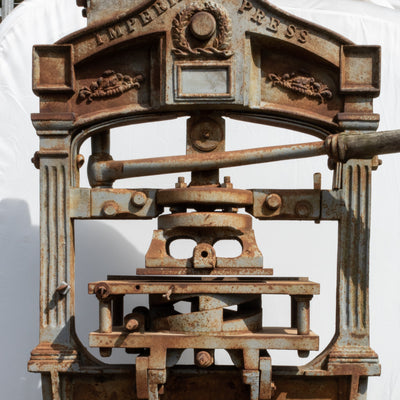 Antique Cast Iron Imperial Printing Press by Sherwin & Cope - architectural-forum