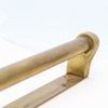 Reclaimed Art Deco Brass Door Pull Handles