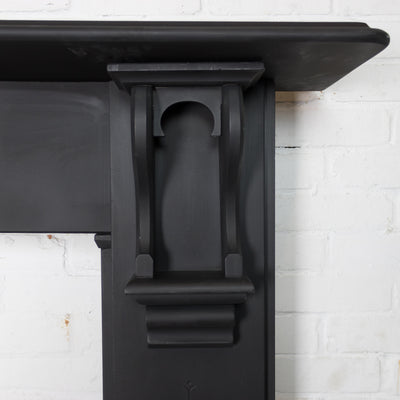 Antique Edwardian Slate Fireplace Surround With Corbels