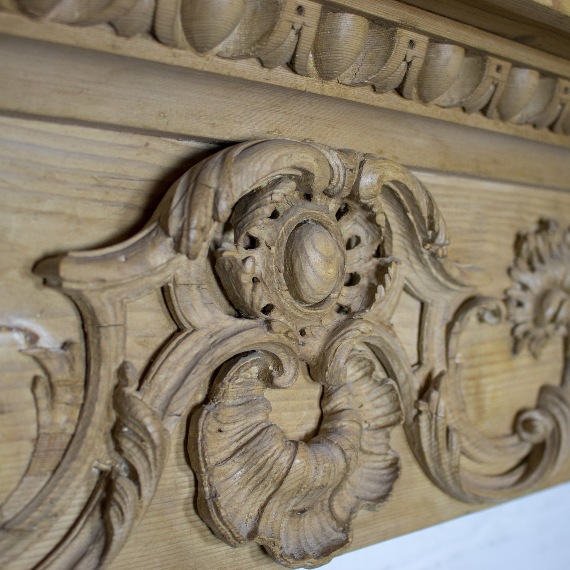 Antique Georgian Carved Pine Chimneypiece | The Architectural Forum