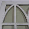 Pair of Gothic Style Glazed Mahogany Window Panels