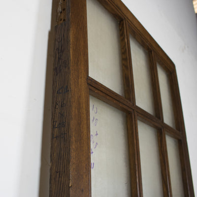Antique 12 Panel Glazed Oak Door 208cm x 86cm