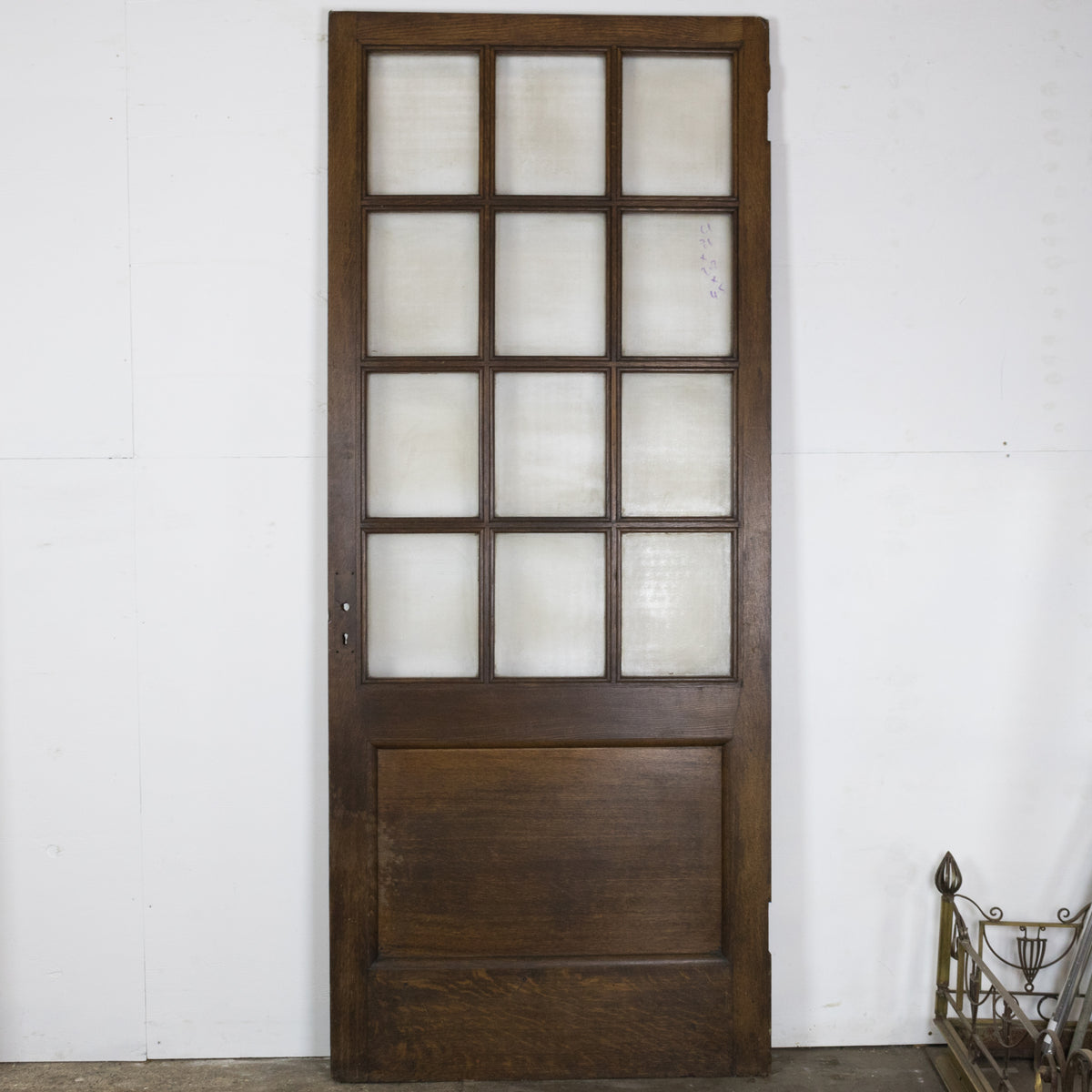 Antique 12 Panel Glazed Oak Door 208cm x 86cm | The Architectural Forum