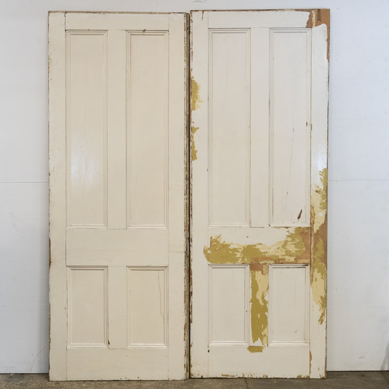 Antique Victorian Pine Double Doors 225cm x 171cm
