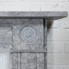 Georgian Style Bullseye Grey Marble Chimneypiece