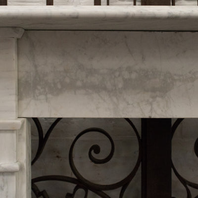 Antique Edwardian Carrara Marble Fireplace Surround - The Architectural Forum