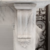 Antique William IV Carrara Marble Corbel Fireplace Surround - The Architectural Forum