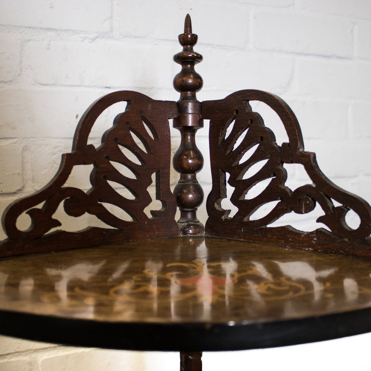 Antique Victorian Walnut & Inlaid Corner Whatnot | The Architectural Forum