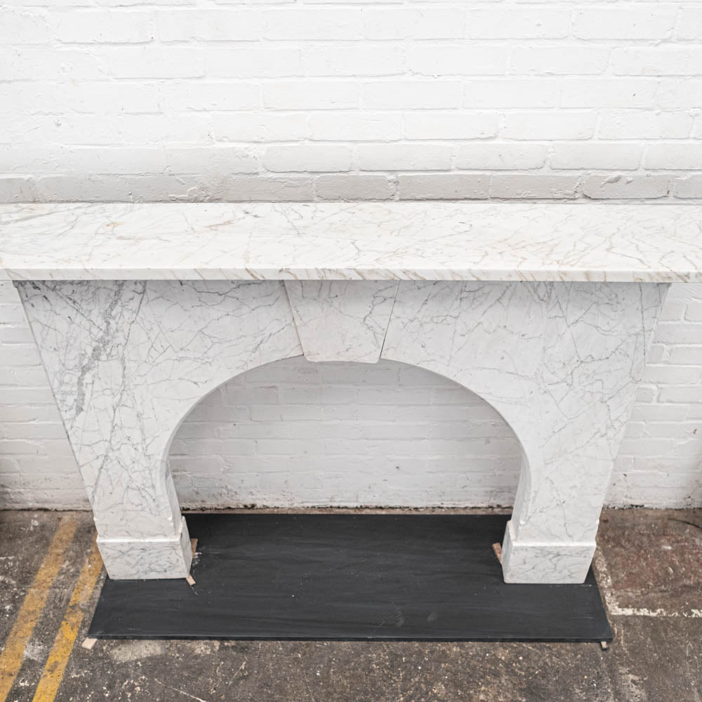 Antique Arched Statuary Pencil Vein Marble Chimneypiece | The Architectural Forum