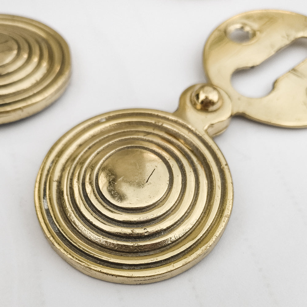 Reclaimed Solid Brass Beehive Escutcheons | The Architectural Forum