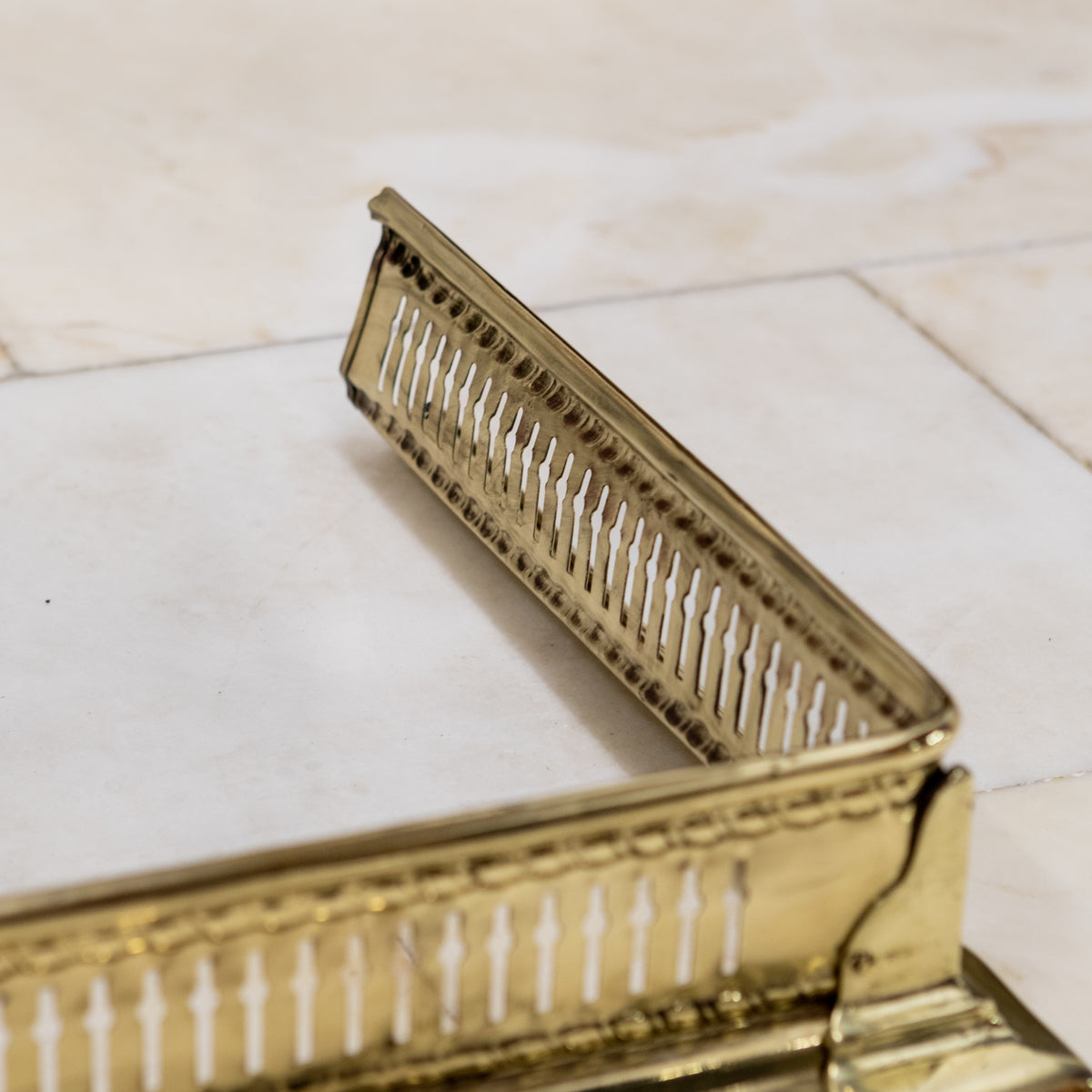 Antique Victorian Brass Fireplace Fender | The Architectural Forum