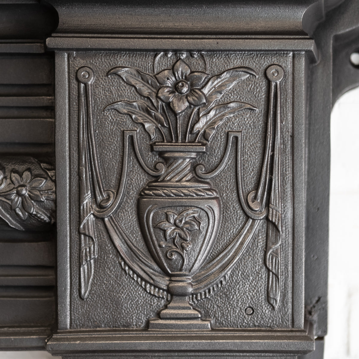Rare Antique Victorian Cast Iron Fireplace Surround | The Architectural Forum