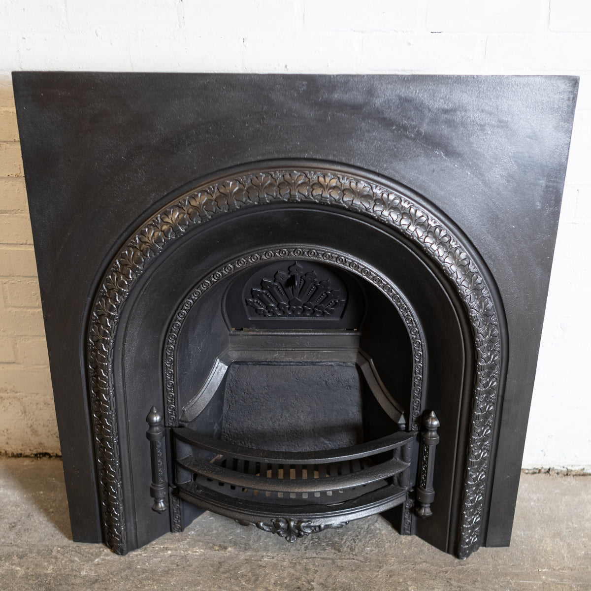 Antique Cast Iron Arched Fireplace Insert | The Architectural Forum