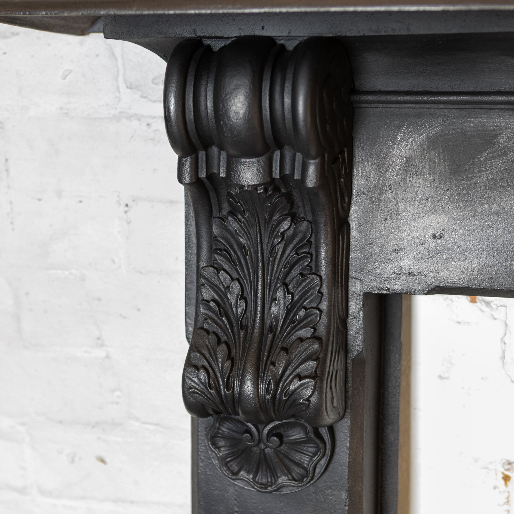 Antique Victorian Cast Iron Surround with Ornate Corbels | The Architectural Forum