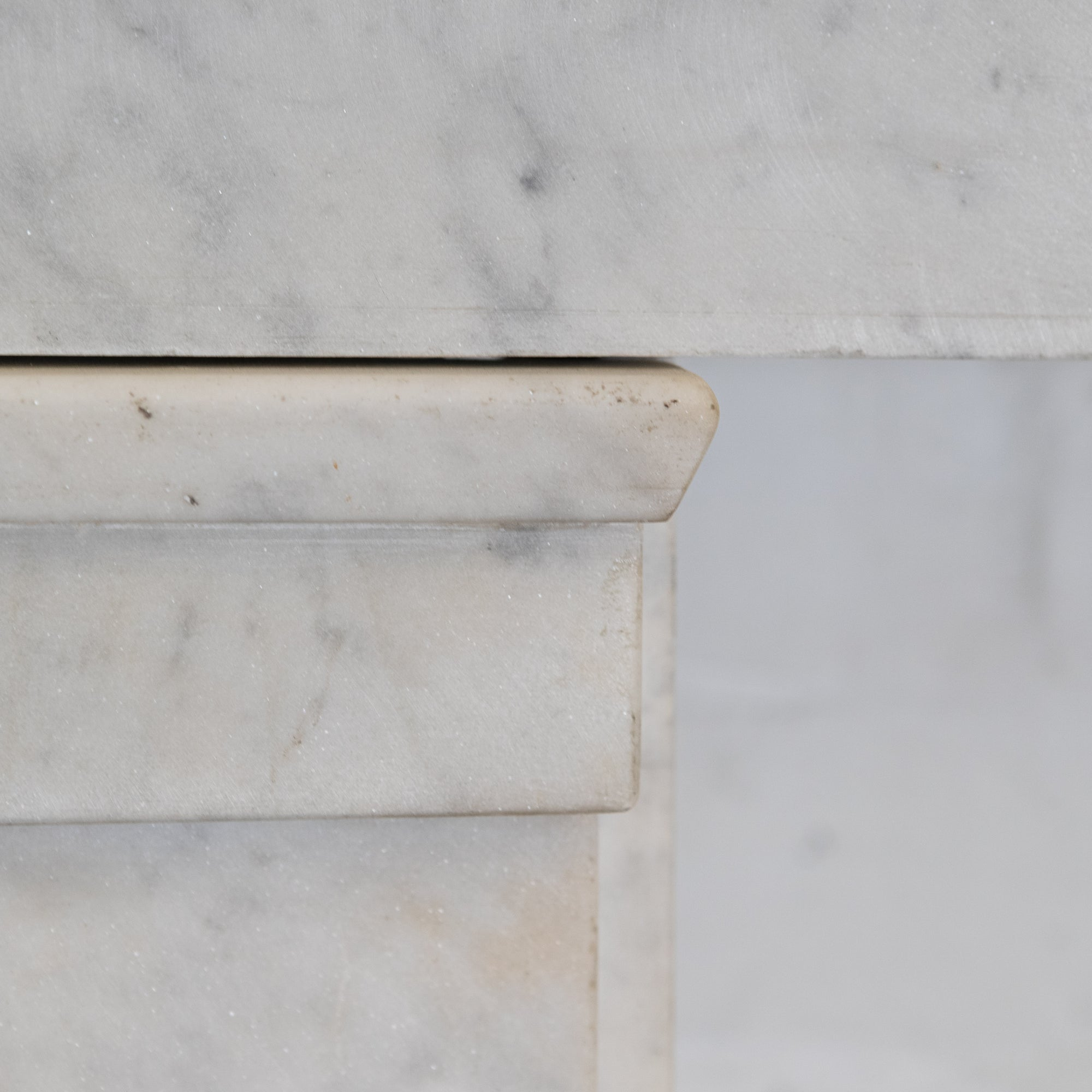 Antique Early Victorian Carrara Marble Fireplace Surround | The Architectural Forum