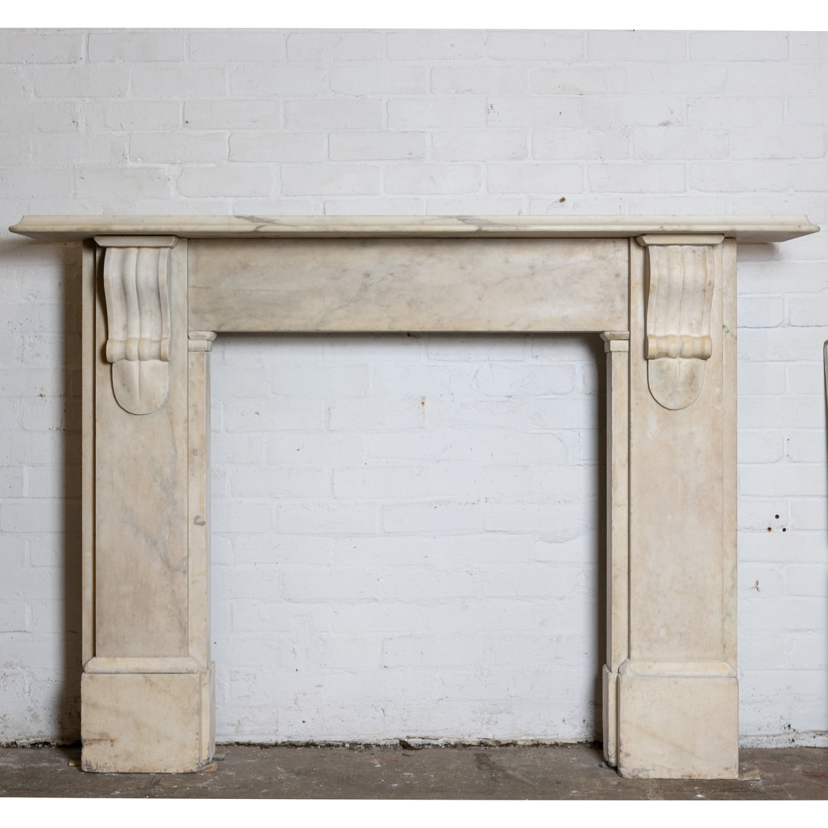 Antique Victorian Statuary Marble Corbel Chimneypiece | The Architectural Forum