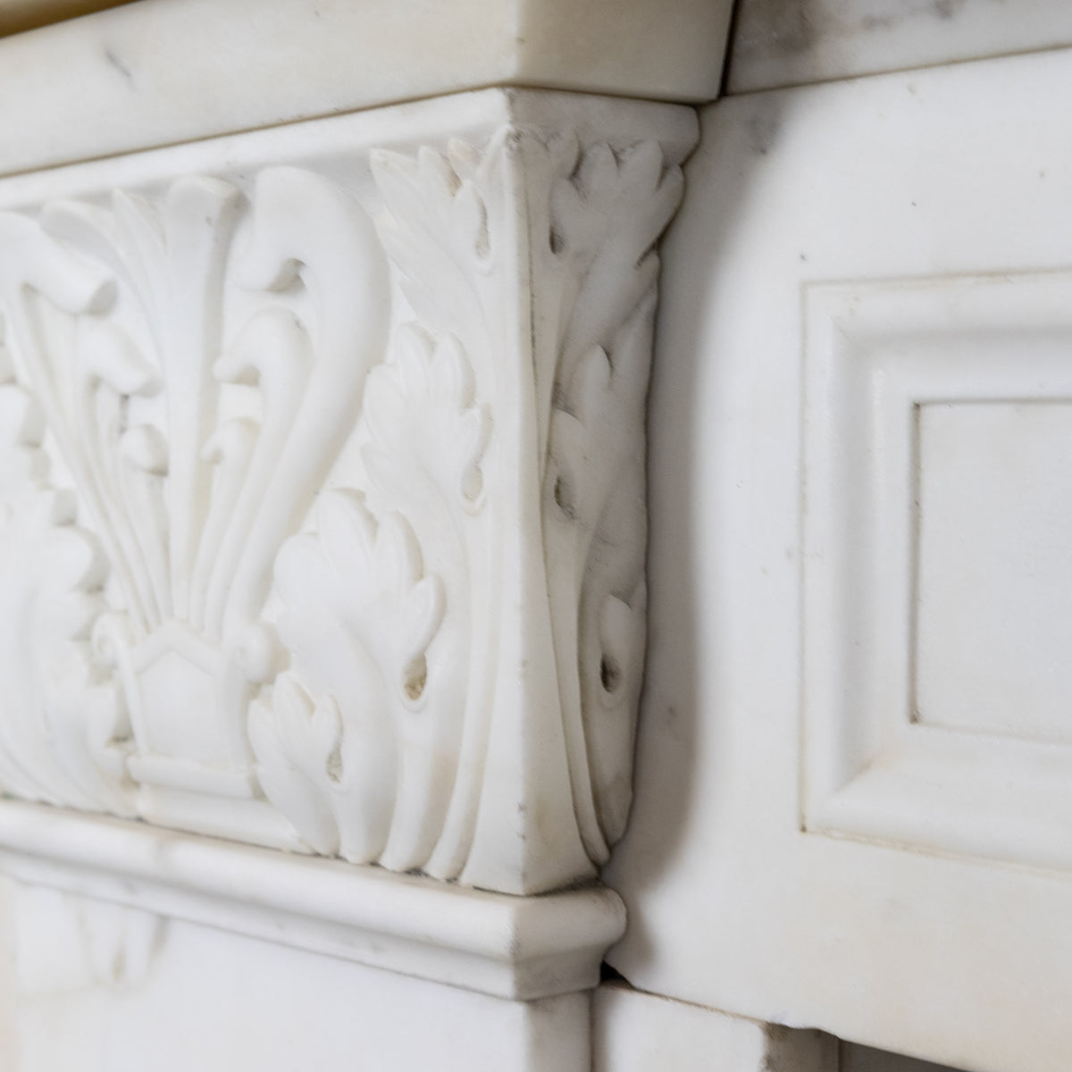 Antique Regency Carved Marble Chimneypiece with Acanthus | The Architectural Forum