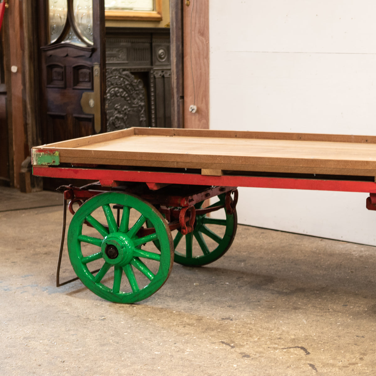 Antique Market Cart with Teak Top | Table | Display (4 available) | The Architectural Forum