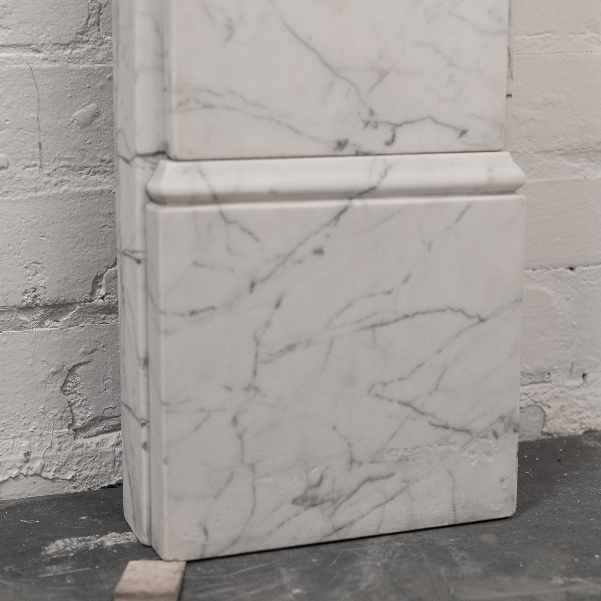 Antique Victorian Carrara Marble Corbel Fireplace Surround | The Architectural Forum