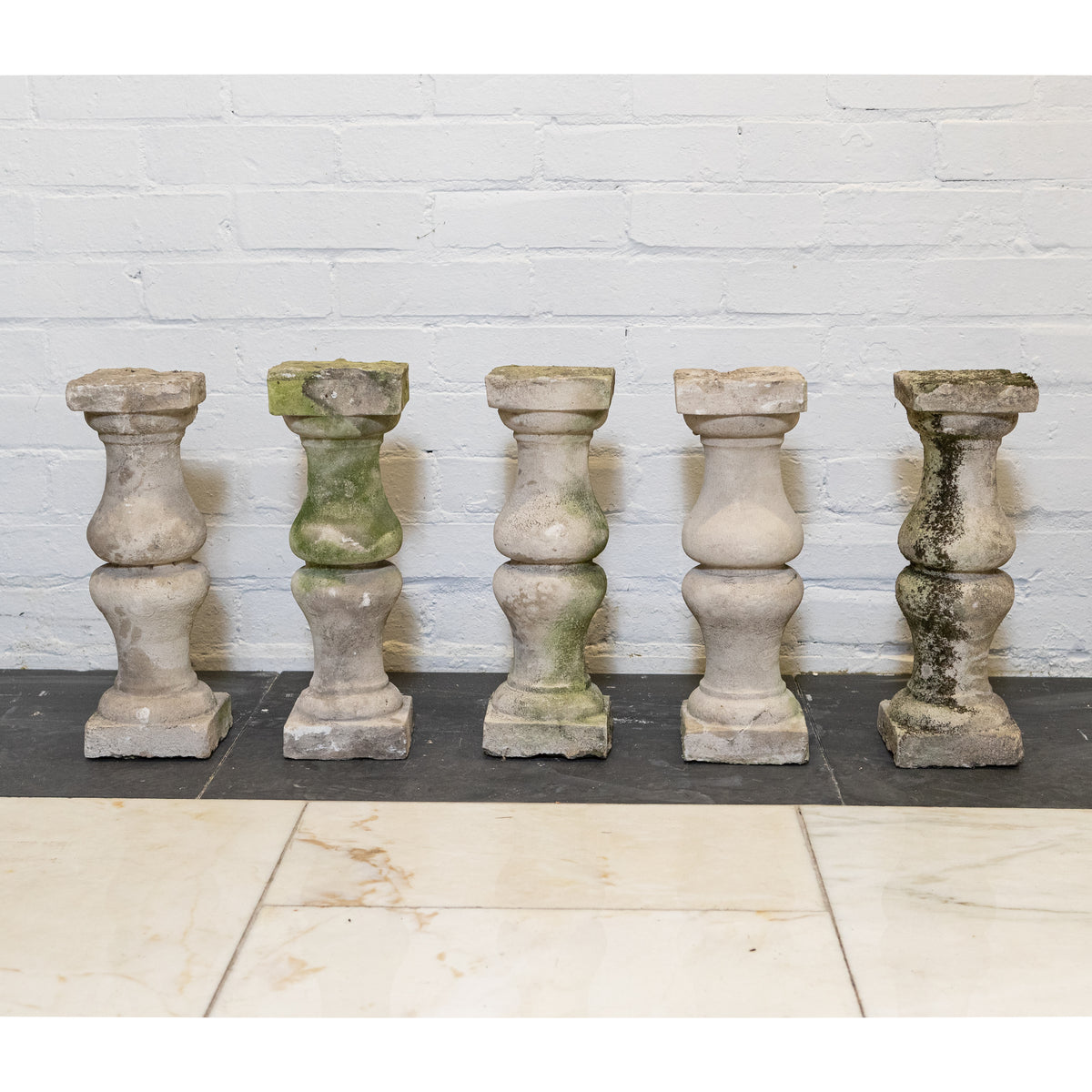 Antique Portland Stone Balustrades (set of 23) | The Architectural Forum