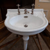 Antique French Single Pedestal Sink Basin - architectural-forum