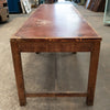 Antique Wooden and Leatherette Table - The Architectural Forum