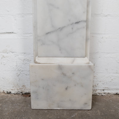 Reclaimed Victorian Style Carrara Marble Fireplace Surround