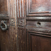 Carved Wooden Tudor Style Double Doors with Frame - The Architectural Forum