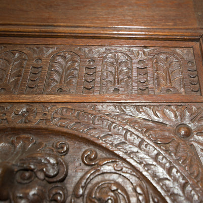 Reclaimed Mid 19th Century Hand Carved Oak Double Doors - architectural-forum