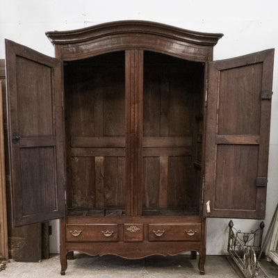 19th Century Tall Carved Oak Antique Wardrobe Armoire - The Architectural Forum