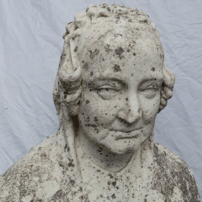 Antique Queen Victoria Bust Carved in Carrara Marble - The Architectural Forum